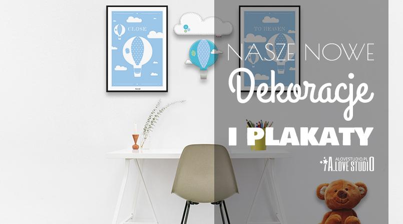dekoracje i plakaty do pokoju dziecięcego