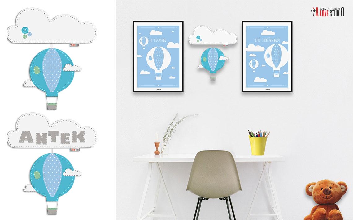 ozdoby dekoracje z filcu i plakaty do pokoju dziecięcego
