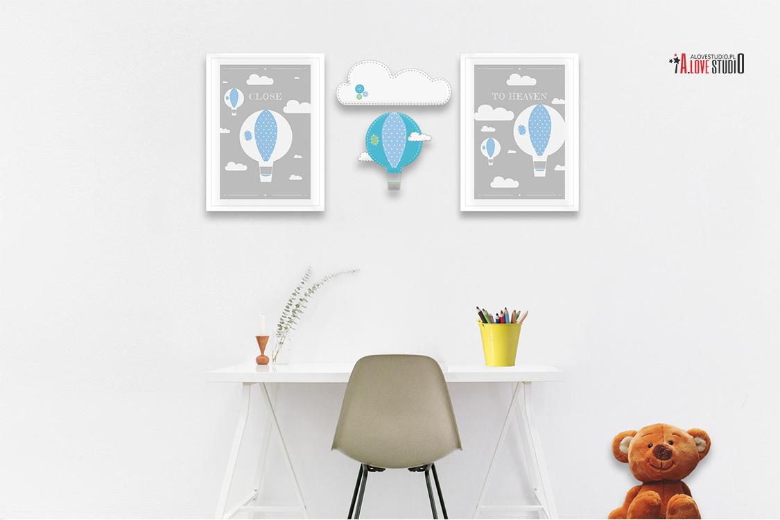 imienna dekoracja ozdoba do pokoju dziecięcego z filcu ręcznie robiona alovestudio