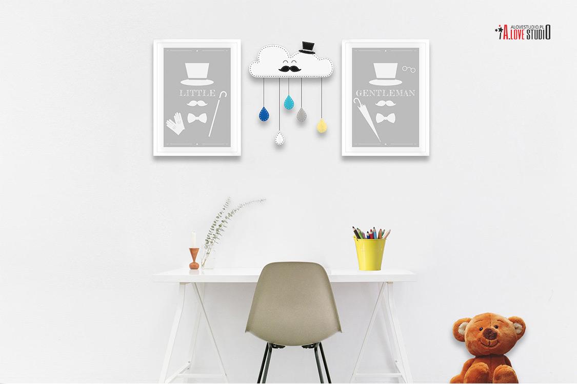 ozdoby dekoracje do pokoju dziecięcego z filcu ręcznie robione