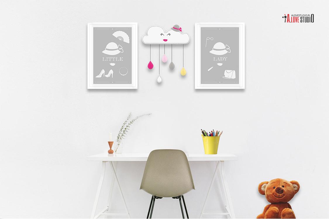 ozdoba dekoracja do pokoju dziewczynki ręcznie robiona z filcu alovestudio