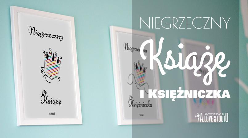 plakaty do pokoju chłopca dziewczynki niegrzeczny książę księżniczka