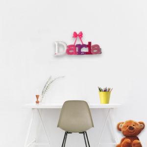 literki z filcu imię dziecka Daria dekoracja c