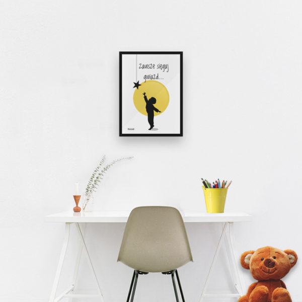 plakat do pokoju dziecięcego chłopca sięgaj gwiazd c