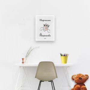 Plakat do pokoju dziecięcego dziewczynki niegrzeczna księżniczka b