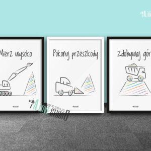 plakaty-dla-dzieci-do-pokoju-chlopca-mierz-wysoko-koparki-b