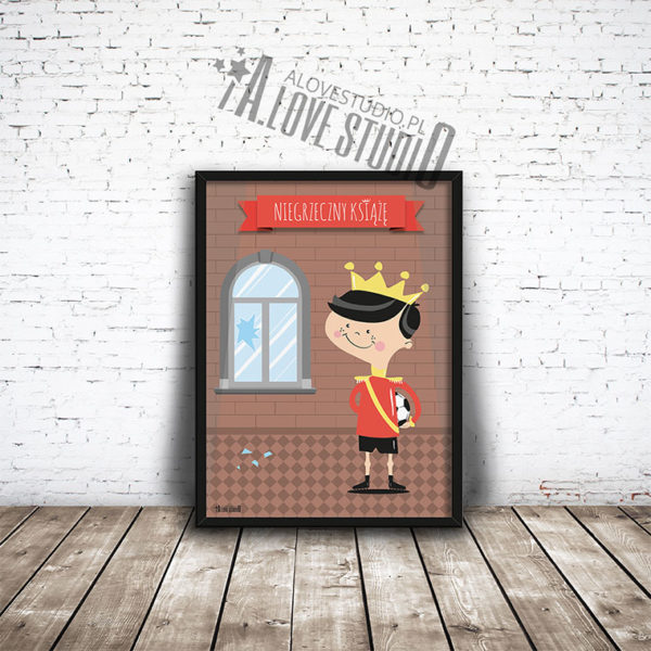 plakaty dla dzieci do pokoju chłopca niegrzeczny książę - 1