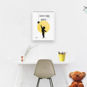plakaty dla dzieci do pokoju chłopca sięgaj gwiazd b