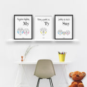 plakaty-dla-dzieci-do-pokoju-chlopca-sowia-rodzina-2plus1-b