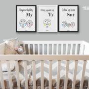 plakaty-dla-dzieci-do-pokoju-chlopca-sowia-rodzina-2plus1-e