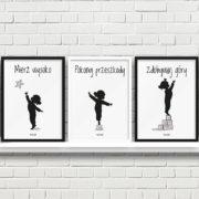 plakaty dla dzieci do pokoju dziewczynki mierz wysoko a