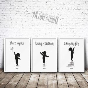 Plakaty dla dzieci do pokoju dziewczynki alovestudio