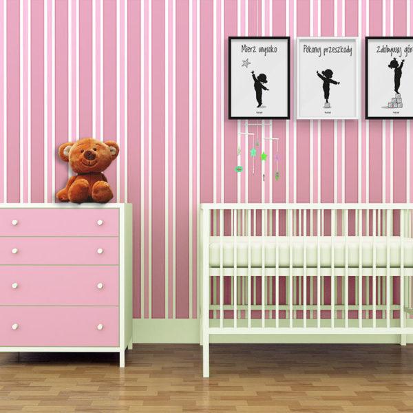 plakaty dla dzieci do pokoju dziewczynki mierz wysoko e