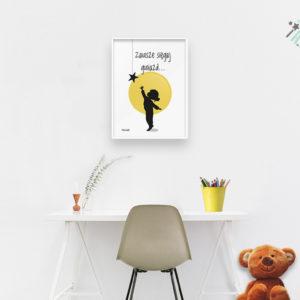 Plakaty dla dzieci do pokoju dziewczynki sięgaj gwiazd b