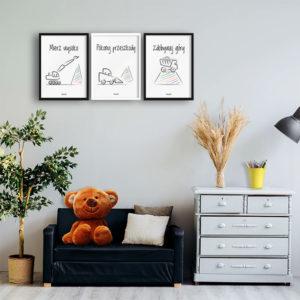 plakaty do pokoju chłopca koparki alovestudio.pl