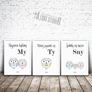 plakaty obrazki dla dzieci sowa sówki rodzina alovestudio pl 1