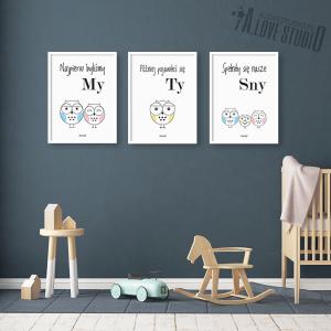 plakaty obrazki dla dzieci sowa sówki rodzina alovestudio pl 2