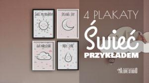 cztery plakaty świeć przykładem do pokoju chłopca dziewczynki