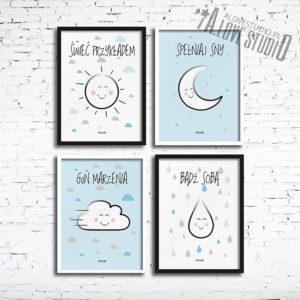 plakat obrazki dla dzieci do pokoju chłopca świeć przykładem 1
