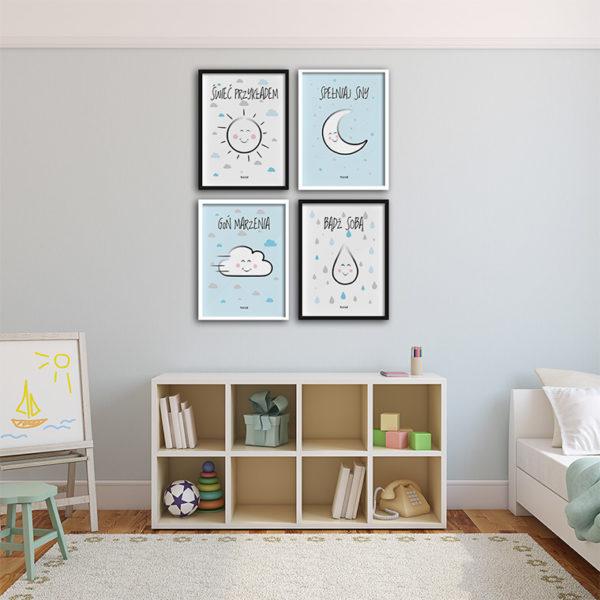 plakat obrazki dla dzieci do pokoju chłopca świeć przykładem 2