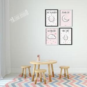 Plakaty obrazki dla dzieci pokój dziewczynki świeć przykładem 2