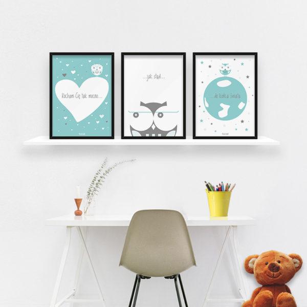 plakaty dekoracje do pokoju dziecięcego chłopca kocham Cię mocno c