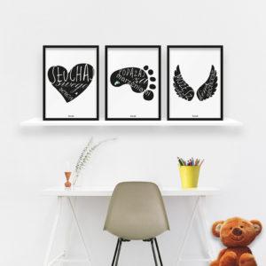 plakaty dekoracje do pokoju dziecięcego chłopca słuchaj swego serca c