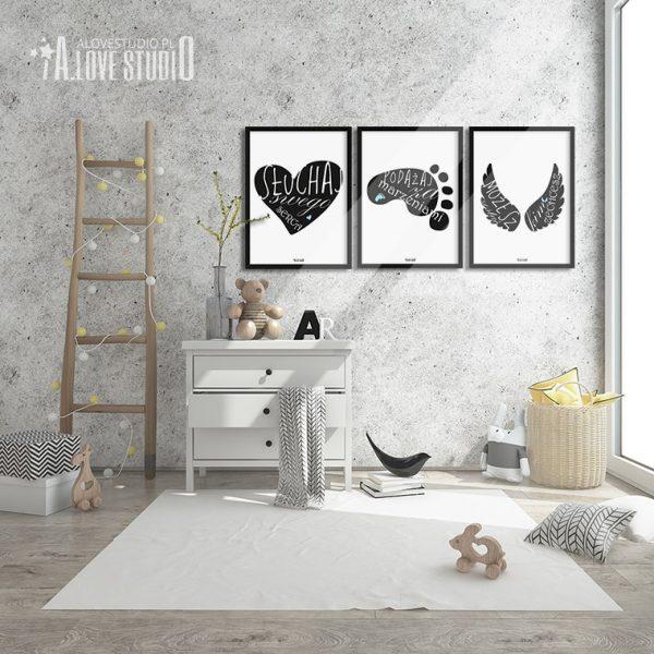 plakaty obrazki dla dzieci słuchaj swego serca alovestudio 2