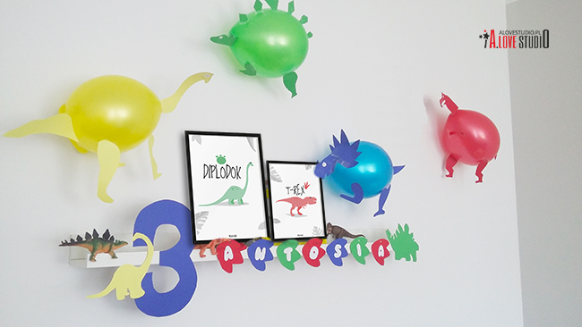 3 urodziny dekoracje dinozaury alovestudio pl