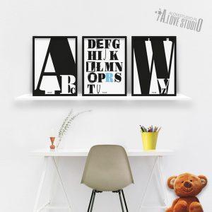plakaty dekoracje do pokoju dziecka chłopca abecadło -2