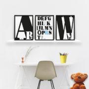 plakaty-dekoracje-do-pokoju-dziecka-chlopca-abecadlo-b