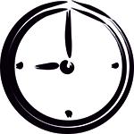 ikona zegar alovestudio