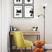 plakaty-dla-dzieci-dekoracje-pokoj-chlopca-dziewczynki-mis-sowa-lis-d