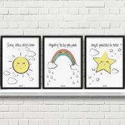 plakaty dla dzieci dekoracje pokój chłopca dziewczynki szukaj słońca