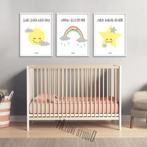 plakaty dla dzieci słońce tęcza gwiazdka alovestudio pl 2