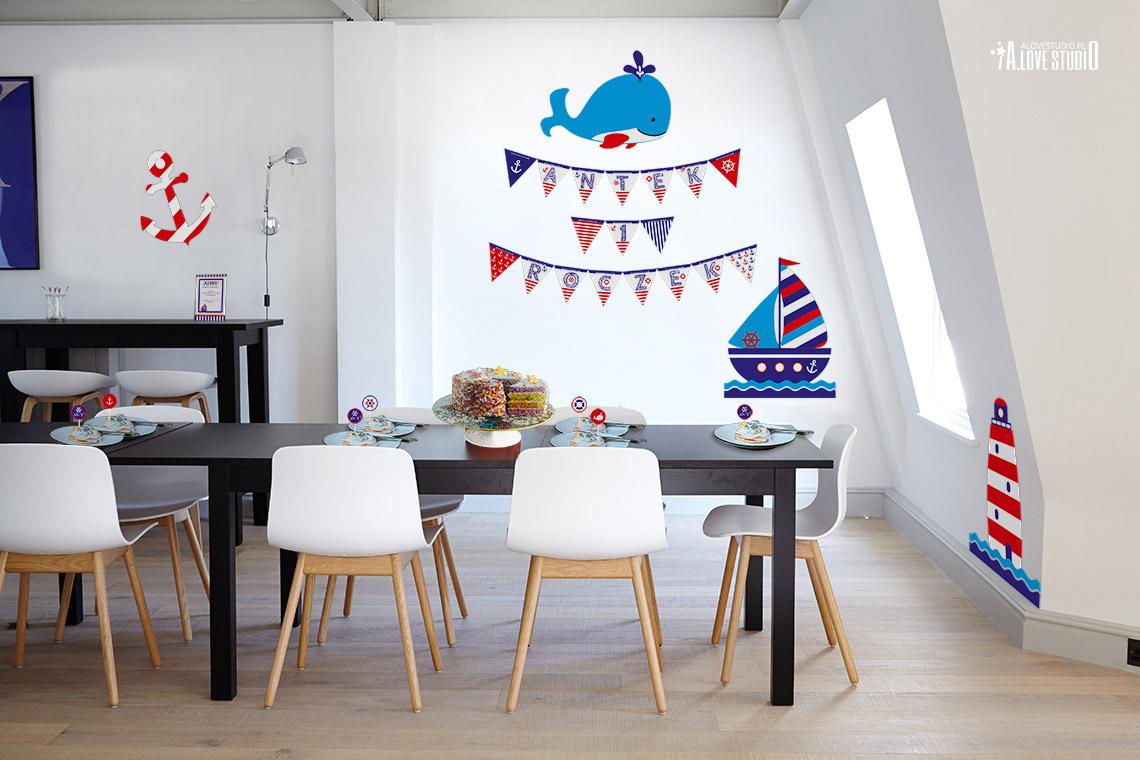 Dekoracje Urodzinowe Styl Marynarski Plakaty Dla Dzieci