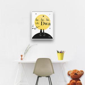 plakaty dla dzieci dekoracje pokój chłopca i dziewczynki aaa kotki dwa b
