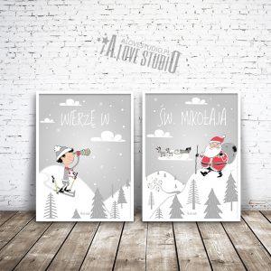 Darmowe plakaty z Mikołajem do druku Święty Mikołaj Alovestudio