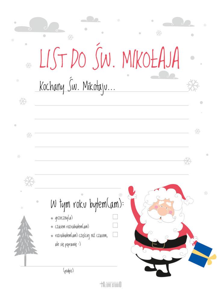 Darmowe Plakaty świąteczne Z Mikołajem Oraz List Do Mikołaja
