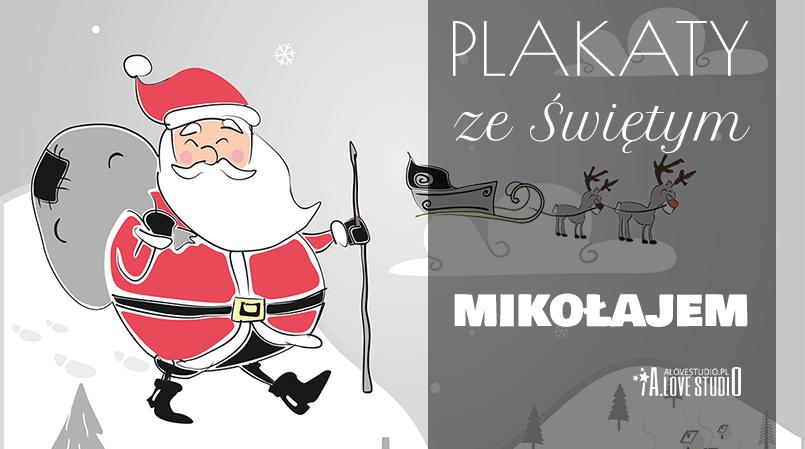 darmowe plakaty dla dzieci ze Świętym Mikołajem alovestudio pl
