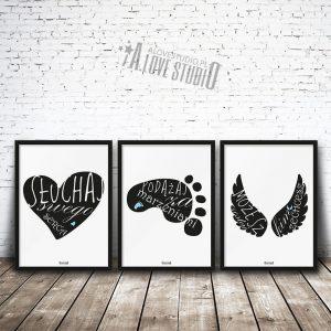 plakaty dekoracje do pokoju dziecięcego chłopca słuchaj swego serca 1
