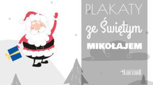 Plakaty dla dzieci Święty Mikołaj
