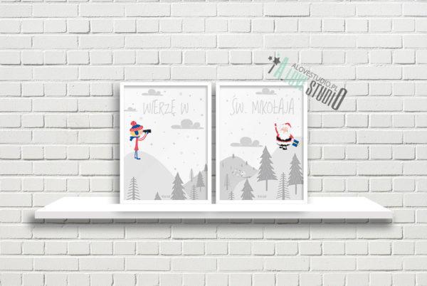 Plakaty dla dzieci Święty Mikołaj alovestudio pl a