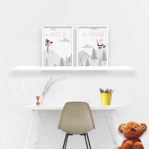 Plakaty dla dzieci Święty Mikołaj alovestudio pl b