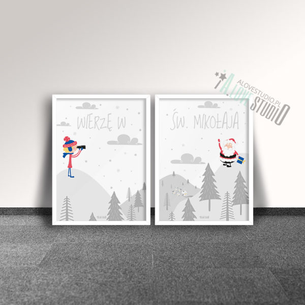 Plakaty dla dzieci Święty Mikołaj alovestudio pl c