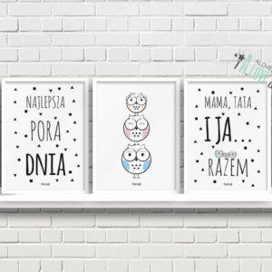 plakaty dla dzieci dekoracje pokój chłopca i dziewczynki najlepsza pora dnia a