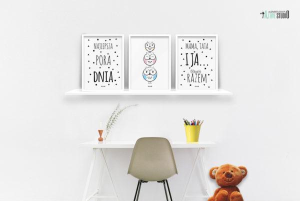 plakaty dla dzieci dekoracje pokój chłopca i dziewczynki najlepsza pora dnia b