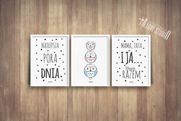 plakaty dla dzieci dekoracje pokój chłopca i dziewczynki najlepsza pora dnia c