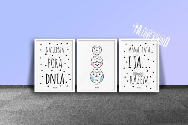 plakaty dla dzieci dekoracje pokój chłopca i dziewczynki najlepsza pora dnia d