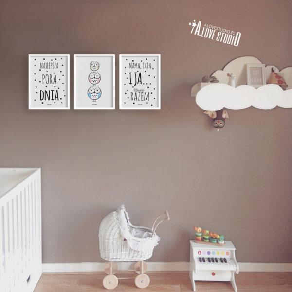 plakaty dla dzieci dekoracje pokój chłopca i dziewczynki najlepsza pora dnia e